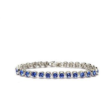 65be57c8765c Miking - Pulsera Mujer Con Cristales Swarovski STB-S - Azul