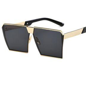 612745c2f6 Vintage Marco Metálico UV400 Gafas De Sol Para Hombres Mujeres
