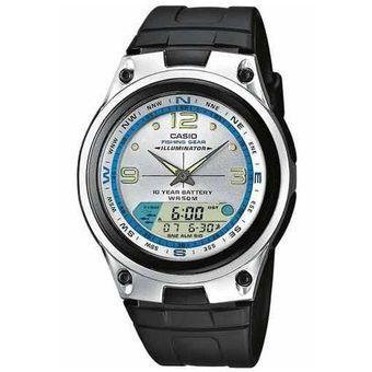 Reloj Casio Aw-82 Caza Pesca Fase Lunar-Plateado