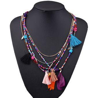 c1a00249bdbb Compra Collar Harmonie Accesorios Multicapas Plumas Multicolor ...