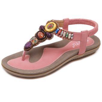 Mujer Piedras Grande Zapatos 43 45 Preciosas Talla De Sandalias Rosa ZTOuXwkPil