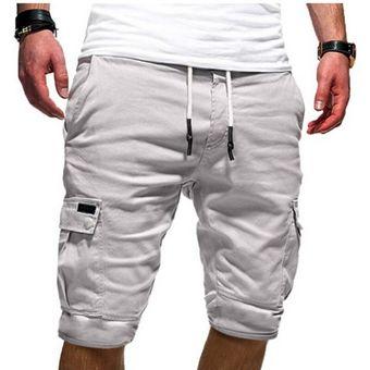 Oeak Pantalones Cortos De Verano Hombres Casual Multi Bolsillo Hombres Cinco Shorts Hombres Ventas Calientes Hombres Pantalones Cortos De Moda De Nueva Marca Solida Gris Linio Peru Un055fa04qwbnlpe