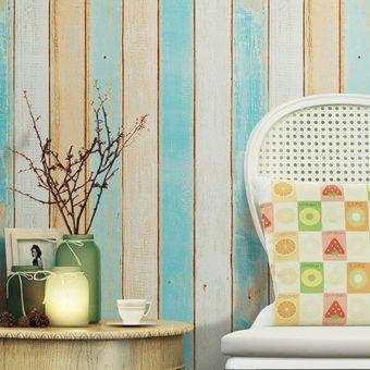 Compra papel tapiz madera marr n crema autoadhesivo decora pared online linio m xico - Papel pared autoadhesivo ...
