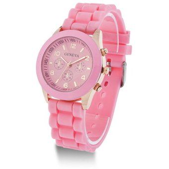 Compra Reloj Geneva Manilla Silicona-Rosado online  40344a1cb46d