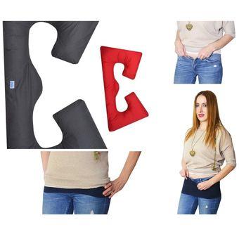 5bb2235d6 Almohada G para Embarazo o Maternidad y Cintillos Extensores de pantalón  para embarazo Mami Ama Bebé
