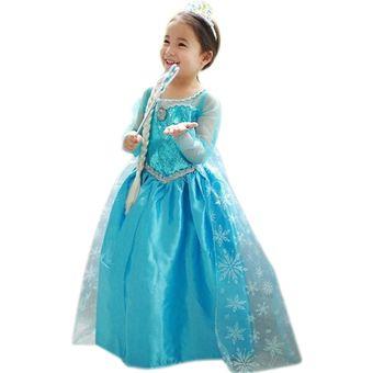 Vestido azul electrico de nina