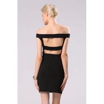6ac24bd2f Compra Yucheer Vestido Hombro Descubierto para Mujer-Negro online ...