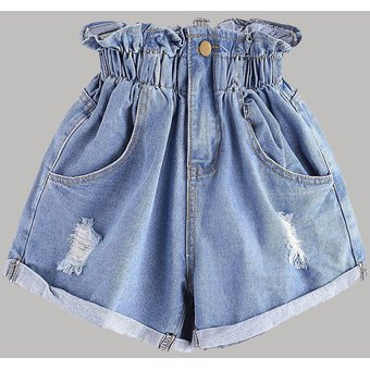 Pantalones Cortos De Tela Vaquera De Cintura Alta Para Mujer Pantal Linio Peru Un055fa1k6bv7lpe