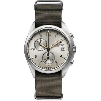 Aviation Reloj Hamilton Khaki Hombre Cn H76552955 qL43ARj5