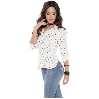 8cb92f066 Agotado Blusa Adulto Femenino Marketing Personal 87936 Blanco Estampado