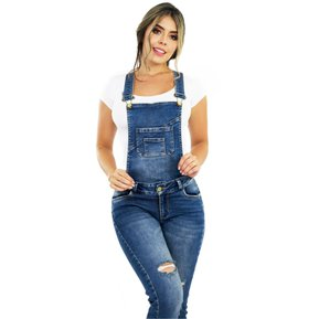 Overol Mujer Pink Star Jeans Levantacola Colombianos f9aa7da39530