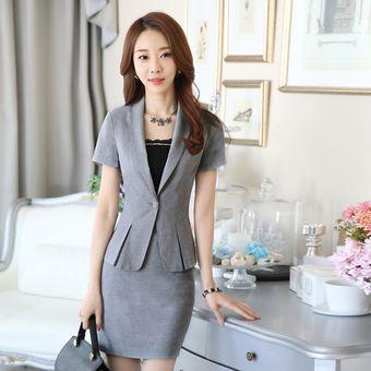 salida para la venta código promocional último diseño Trajes Para Mujer Faldas Y Sacos Formales De Oficina Y Negocio - Gris