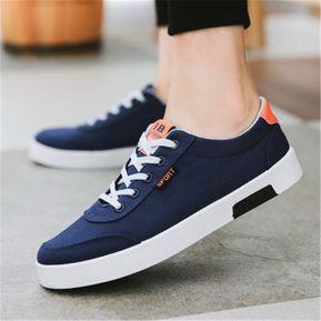 6dc59d852dd Lona de los hombres casuales zapatos de los deportes-Azul
