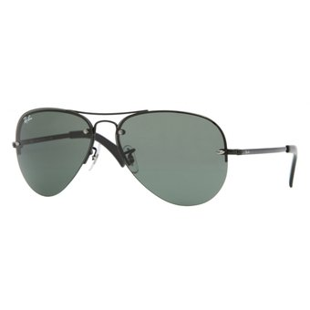 5dcba00867 Compra Ray Ban Aviator rb3449 002/71 negro/verde oscuro g15 online ...