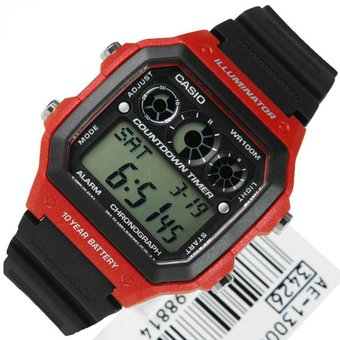 6653360df082 Reloj Casio Hombre Deportivo Modelo Ae-1300wh-1avcf Iluminador Digital  Temporizador -Negro Con