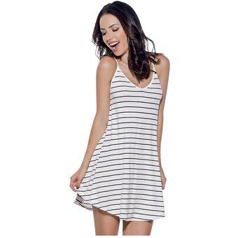de1936cd6 Compra Vestido Juvenil Femenino Marketing Personal 63627 Blanco Azul ...