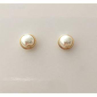 8de254ce3512 Compra Topos De Oro Goldfield Y Perla Pequeña - Blanca online ...
