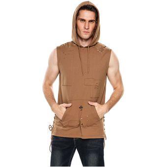 Compra Camisa Ropa Moono con capucha sin mangas Yucheer para hombre ... 73c43adb575
