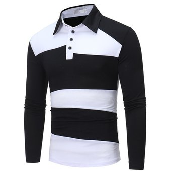 Compra Camiseta Polo Casual Fashion-Cool Para Hombre-Blanco Y Negro ... 44be1f9980e87