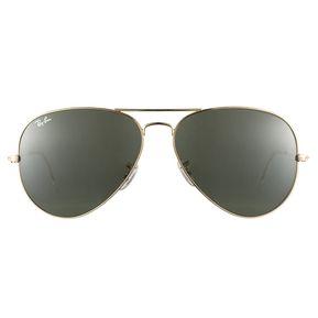 4788ba27972ba Gafas De Sol Ray Ban Aviator 3026 L2846 Dorado   Verde 62mm
