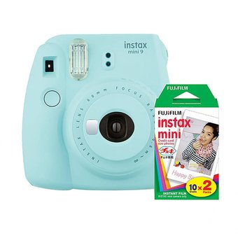 Camara Fujifilm Instax Mini 9 Ice Blue + 20 Fotos