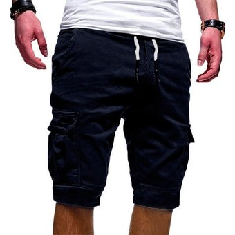 Pantalones Cortos De Verano Hombres Casual Multi Bolsillo Hombres Solidos Hombres Ventas Calientes Hombres Moda Solida Pantalones Cortos Streetwear Azul Linio Peru Un055fa11xqr3lpe