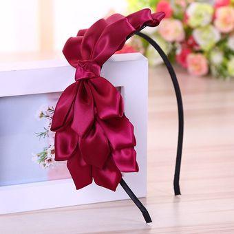 Levao Cinta De Lazo Grande Con Flores Para El Pelo Brillante Accesorios Para El Pelo De