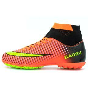 Zapatillas Hombre De Fútbol Con Clavo Corto Y Colores - Naranja be749a38f5d4b