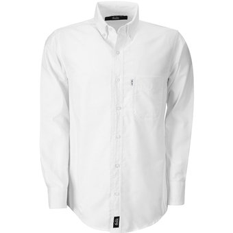8a151e7090 Camisa Hombre Manga Larga Oxford Hombre Uniforme Empresarial Ejecutivo  Oficina Color-Blanco