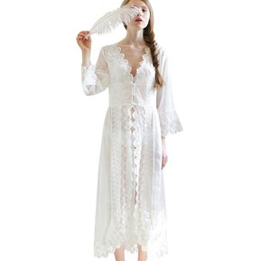 38e7bb070 Loose-fitting Plunging Neck Long Sleeve Jacquard (Blanco)