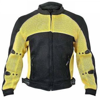 6acc87c8c13 Chamarra Para Motociclista Xelement De Malla Con Protecciones  CF-509-Amarillo