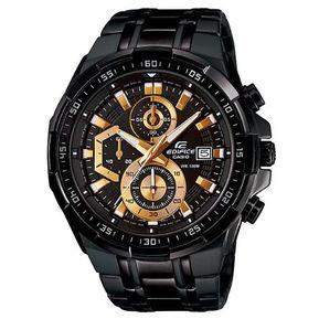 8145926a801 Reloj Casio Edifice EFR-539BK-1AVDF Correa De Acero Inoxidable Para Hombre
