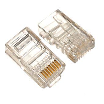 Bolsa de 1000 conectores Generico RJ45-Transparente