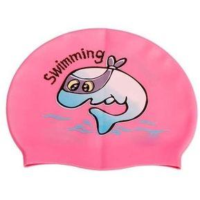 Gorras Para Natación Infantil Modelo Baby Dolphin Rosa cfaeeec671d