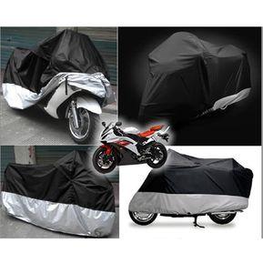 23bd95e992b1 Cubierta de la motocicleta 180T XXL 265 105 125 -Negro y Plata