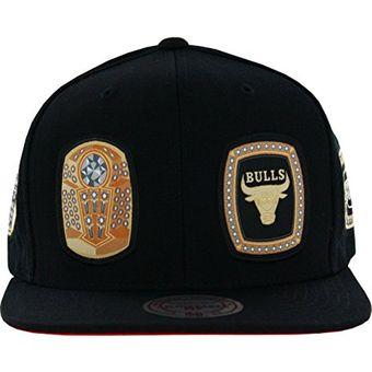 54eff2d23925f Agotado Mitchell   Ness - Gorra Hombre Men s Chicago Bulls Rings Snapback  Hat - Negro