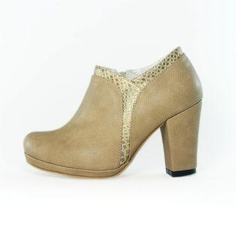 7cb33d0b Zapato Tipo Botin Clasic - Beige
