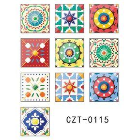 e9df8643f EY Los azulejos de la pared Vintage etiquetas autoadhesivas cocina baño  aseo papel tapiz-Multi