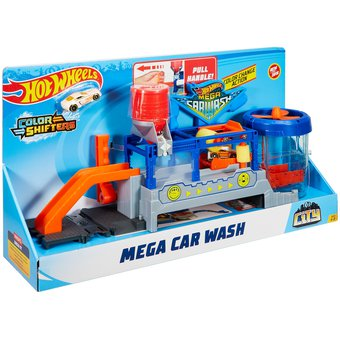 Compra Pista De Carros Hot Wheels Mega Car Wash Autolavado Online