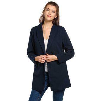 a3f291435ca Compra Abrigo Lana Cruzado para Mujer-Azul marino online | Linio Chile