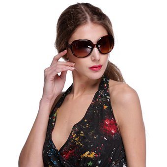 edb724c716 Retro Vintage Shades Fashion Oversized Designer Lens Sunglasses Outdoor  Driving Eyewear Glasses Para Mujer-Marrón