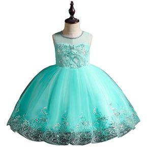 1929db4f9b5f Niños vestidos niña Flor Pettiskirt Princesa traje de boda