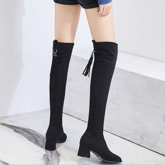 66b56d7541 Compra Mujer Botas Largas Con Tacon Sin piel dentro Tailun-cool ...