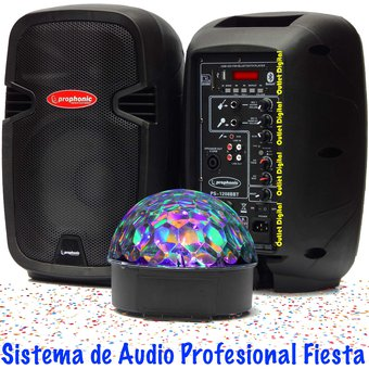 Equipo De Sonido Profesional Bluetooth + Luces LED Prophonic PS1208BBT