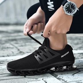best service b6979 950bb Couple Transpirables Zapatos Para Correr De Los Hombres Zapatos Deportivos