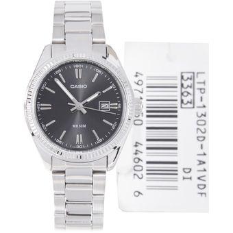 c47598a3cec9 Compra Reloj Casio LTP 1302D 1A1V - Plateado fondo Negro Para Mujer ...