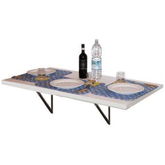 Compra practicosas mesa plegable de pared 60x100cm for Mesa plegable falabella