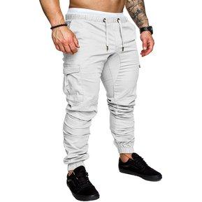 a59a51d370 Casual Multi-bolsillo Harén Pantalones Joggers Para Hombres