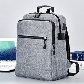 a72cc9283aa Función impermeable USB Charging Computer Backpack para -Gris