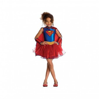 Disfraz supergirl super chica para ni as superman liga - Disfraces para bebe nina ...
